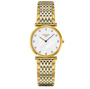 Longines - La Grande Clas. Gld Mother of Pearl Diamonds 29mm