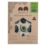 Queen B - Beeswax Wrap Avo Saver 17x18cm