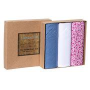 Tamielle - Floral Handkerchief Set 3pce
