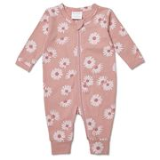 Marquise - Flower Print Pink Footless Zipsuit Size 00