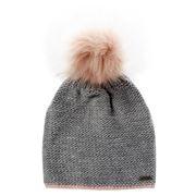 Beanie - Essence Beanie Knit Stitch Ladies Grey