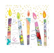 Paper Products Design - B/Day Candles Napkins 33x33cm 20pce