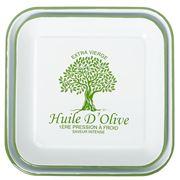 Flair Decor - Huile D'Olive Enamel Square Plate Set 2pce