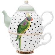 Yvonne Ellen - Tea For One Parrot Polka Dots