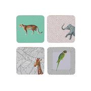 Yvonne Ellen - Mixed Animal Coaster Set 4pce