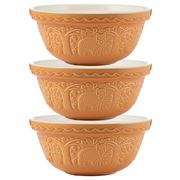Mason Cash - In The Forest Mixing Bowl Bear Ochre Set 3pce