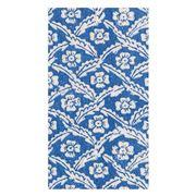 Caspari - Floral Cross-Brace Blue Guest Towel Napkins 15pce