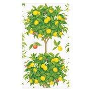Caspari - Citrus Topiaries White Guest Towel Napkins 15pce