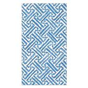 Caspari - Fretwork Blue Guest Towel Napkins 15pce