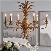 Cafe Lighting - Hacienda Chandelier 6 Arm Antique Gold