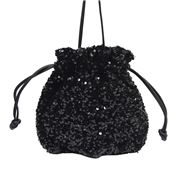 Sassy Duck - Twinkle Sequin Pouch Bag Black