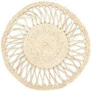 Carnival - Handmade Jute Sun Placemat Natural 35cm