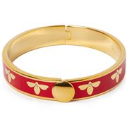 Halcyon Days - Bee Red & Gold Bangle