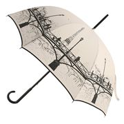 Guy de Jean - Artist Bridge Cream & Black Umbrella