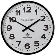 Thomas Kent - Regulator No 8 Wall Clock Black & White 30cm