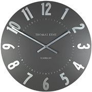 Thomas Kent - Mulberry Wall Clock Graphite & Silver 30cm