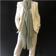 Cashmere Luxe - Cloud Cashmere Handloom Wrap Celadon