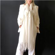 Cashmere Luxe - Cloud Cashmere Handloom Wrap White