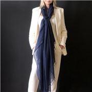 Cashmere Luxe - Cloud Cashmere Handloom Wrap Navy Blue