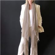 Cashmere Luxe - Cloud Cashmere Handloom Wrap Taupe
