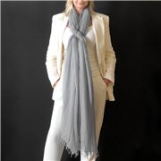 Cashmere Luxe - Cloud Cashmere Handloom Wrap Soft Grey