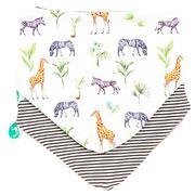 All4Ella - Bandana Bibs Safari/Stripes 2pce
