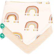 All4Ella - Bandana Bibs  - Rainbow/Striped 2pce