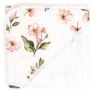 All4Ella - Hooded Towel Pink Flower 80x80cm