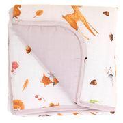 All4Ella - Muslin  Baby Blanket Forest 80x80cm