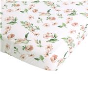 All4Ella - Cotton/Bamboo Fitted Cot Sheet Pink 132x77cm