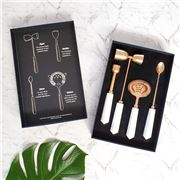 Clinq - Copper & Marble e Cocktail Tool Set 3pce
