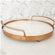 Clinq - Matt Copper & Marble Tray