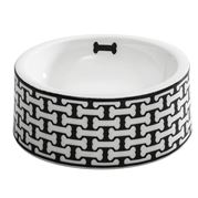 Halcyon Days - Bone Trellis Bowl Large Black