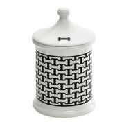 Halcyon Days - Bone Trellis Treat Jar Small Black