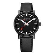 Mondaine - Official EVO2 Black Dial Big Watch 40mm