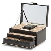 Wolf - Marrakesh Medium Jewellery Box Black w/Travel Box