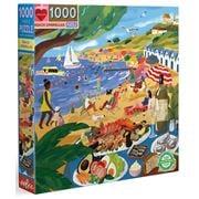 eeBoo - Beach Umbrellas Puzzle 1000pce
