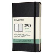 Moleskine - Hard Cover 2022 Weekly Diary Black Pocket