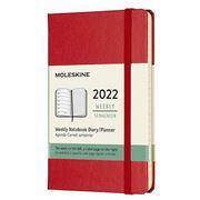 Moleskine -  Hard Cover 2022 Weekly Diary Scarlet Pocket