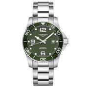 Longines - HydroConquest Steel & C/Bezel Green Watch 41mm