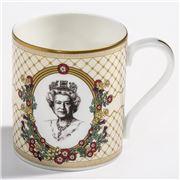 Halcyon Days - HRH The Queen Mug