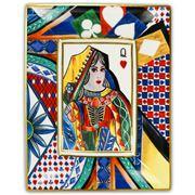 Baci Milano - Regina Di Cuori Rectangular Tray Queen 20x16cm