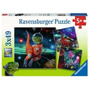 Ravensburger - Dinosaurs In Space Puzzle 3x49pce