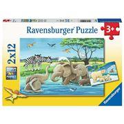 Ravensburger - Baby Safari Animals Puzzle 2x12pce