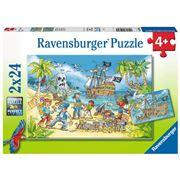 Ravensburger - Adventure Island Puzzle 2x24pce