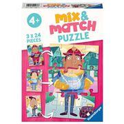 Ravensburger - Job Swap Mix & Match Puzzle 3x24pce