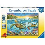 Ravensburger - Swim With Sea Turtles Puzzle 100pce