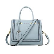 Serenade Leather - Reese Vegan X Stitch Handbag Steel Blue