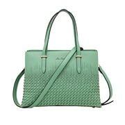 Serenade Leather - Addison Vegan Woven Detail Bag Pistachio