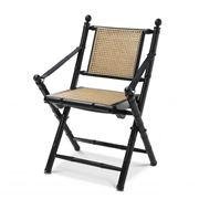 Vandenberg - Folding Chair Bolsena Black Finish Natural Cane